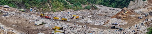 In-camera panoramic of the landfill