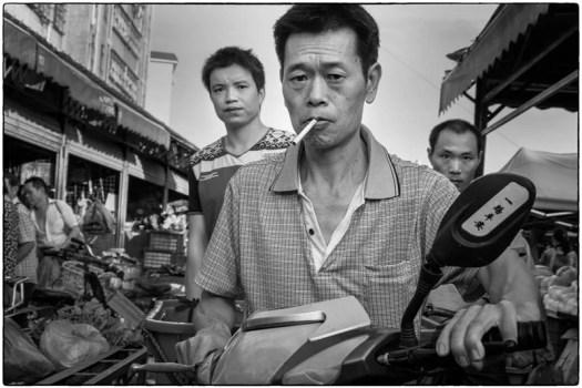 Crowded market – Qingxi, China