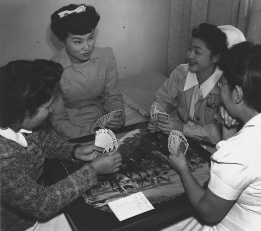 Bridge game, Nurse Hamaguchi and friends.