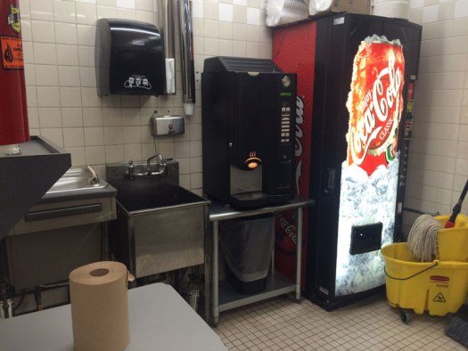 One of several refreshment areas