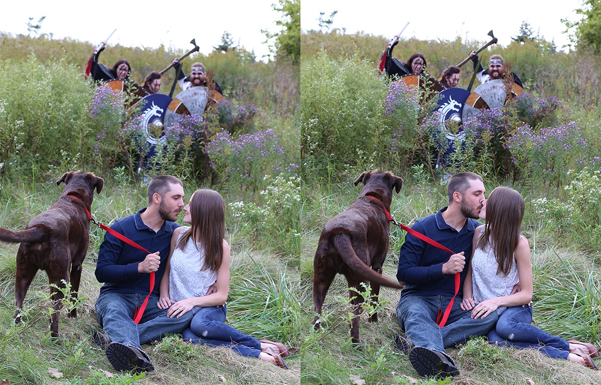 Romantic Engagement Shoot Photobombed by LARPers
