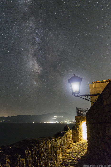 The Milky Way as seen from Monemvasia Castle.