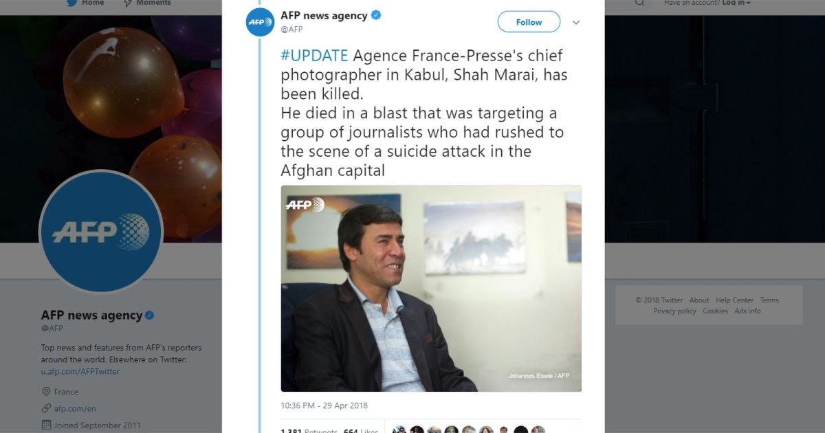 AFP Chief Photographer Killed in Kabul Suicide Blast Targeting Journalists