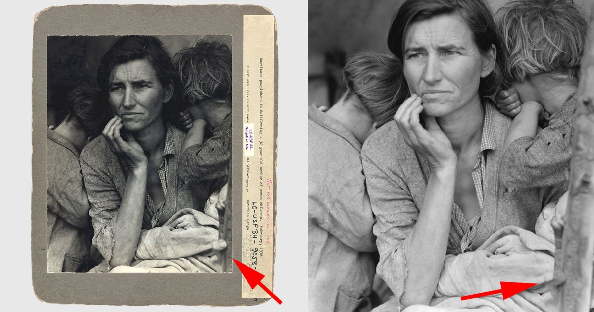 That Iconic 'Migrant Mother' Photo Was 'Photoshopped'