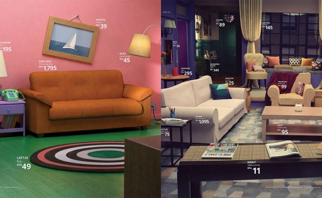 Ikea Recreates Rooms In Simpsons Friends Stranger