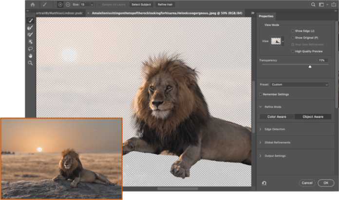 Photoshop Intelligent Refine Edge 1