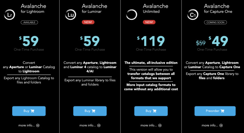 avalanche prices