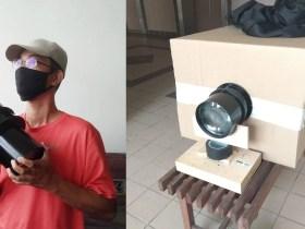 Costruzione di una fotocamera 16×20 con obiettivo aereo gigante e cartone