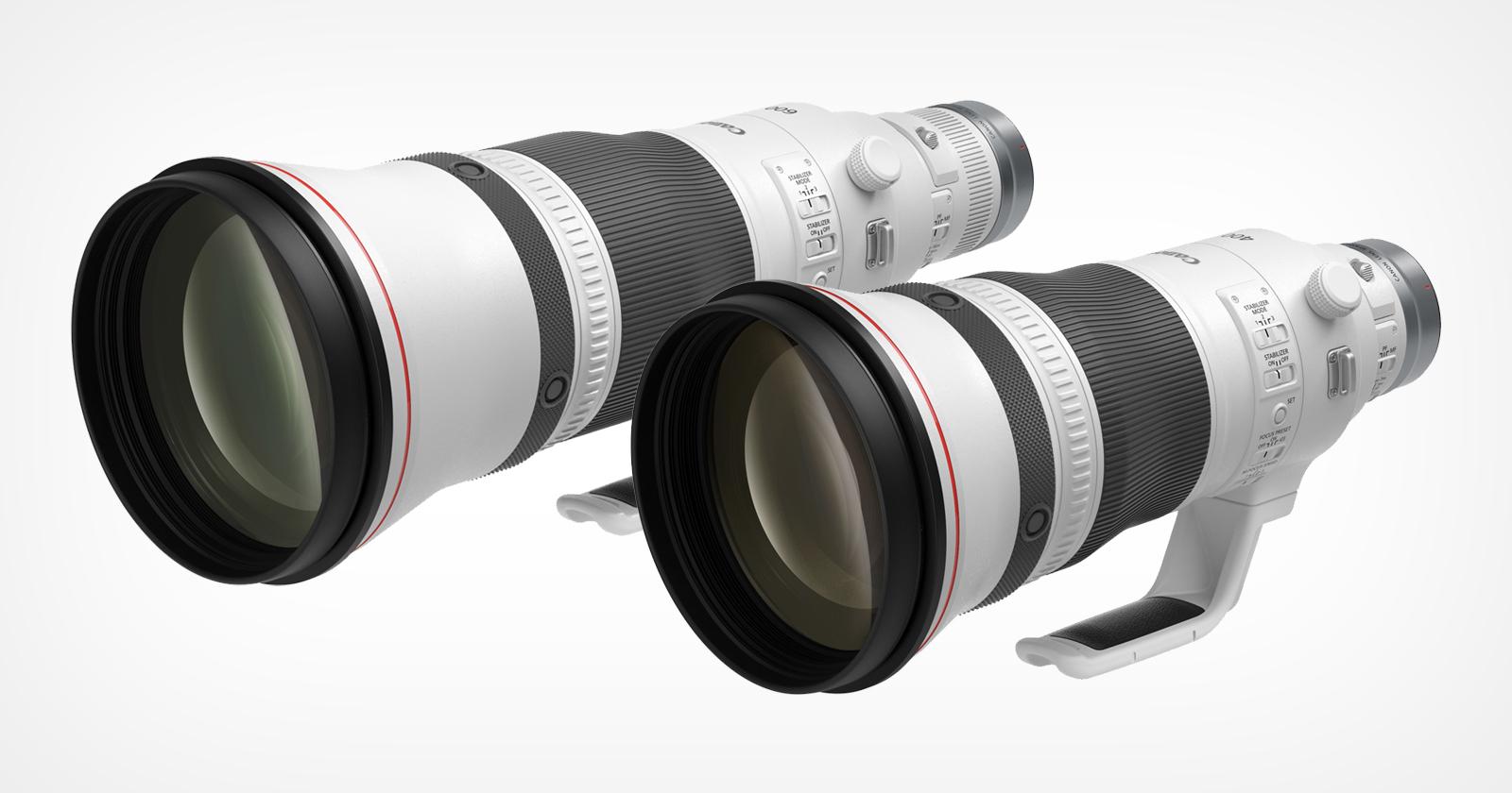 Canon trasferisce in modo identico i suoi 400 mm f / 2.8L e 600 mm f / 4L da EF a RF
