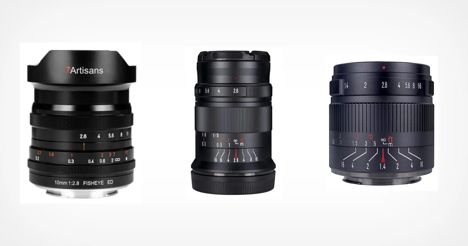 7artisans aggiunge tre nuovi obiettivi alla sua linea Nikon Z-Mount