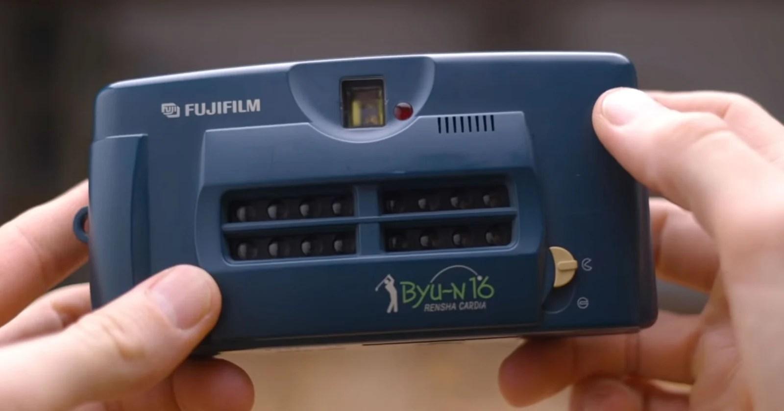 La fotocamera Fujifilm Rensha Cardia Byu-N 16 è una macchina Gif con pellicola da 35 mm