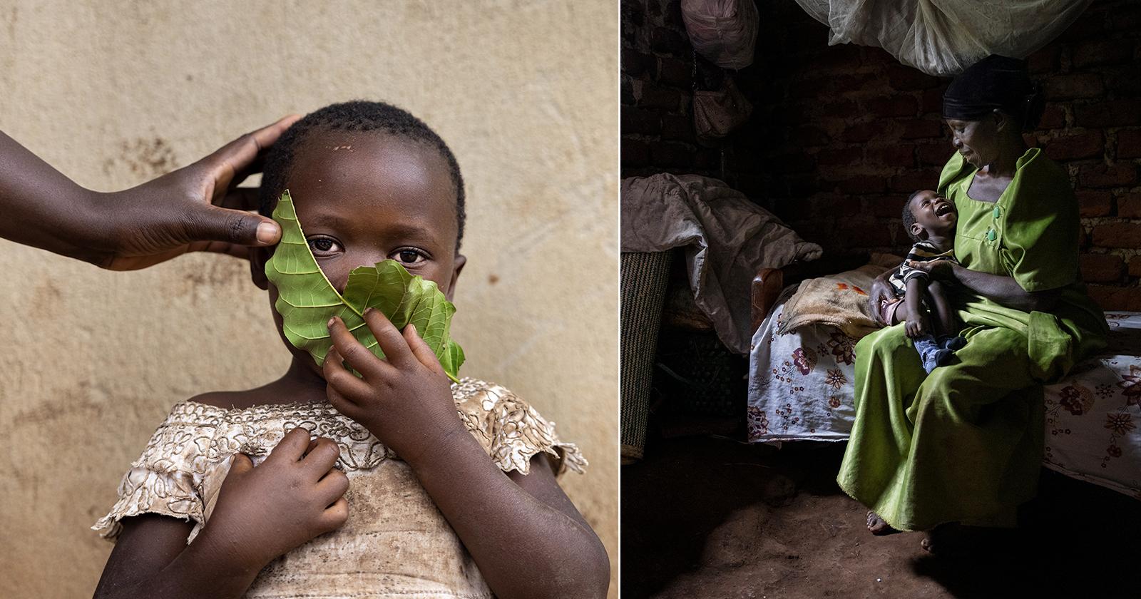 La serie di foto documenta l'esperienza della vita quotidiana in Uganda