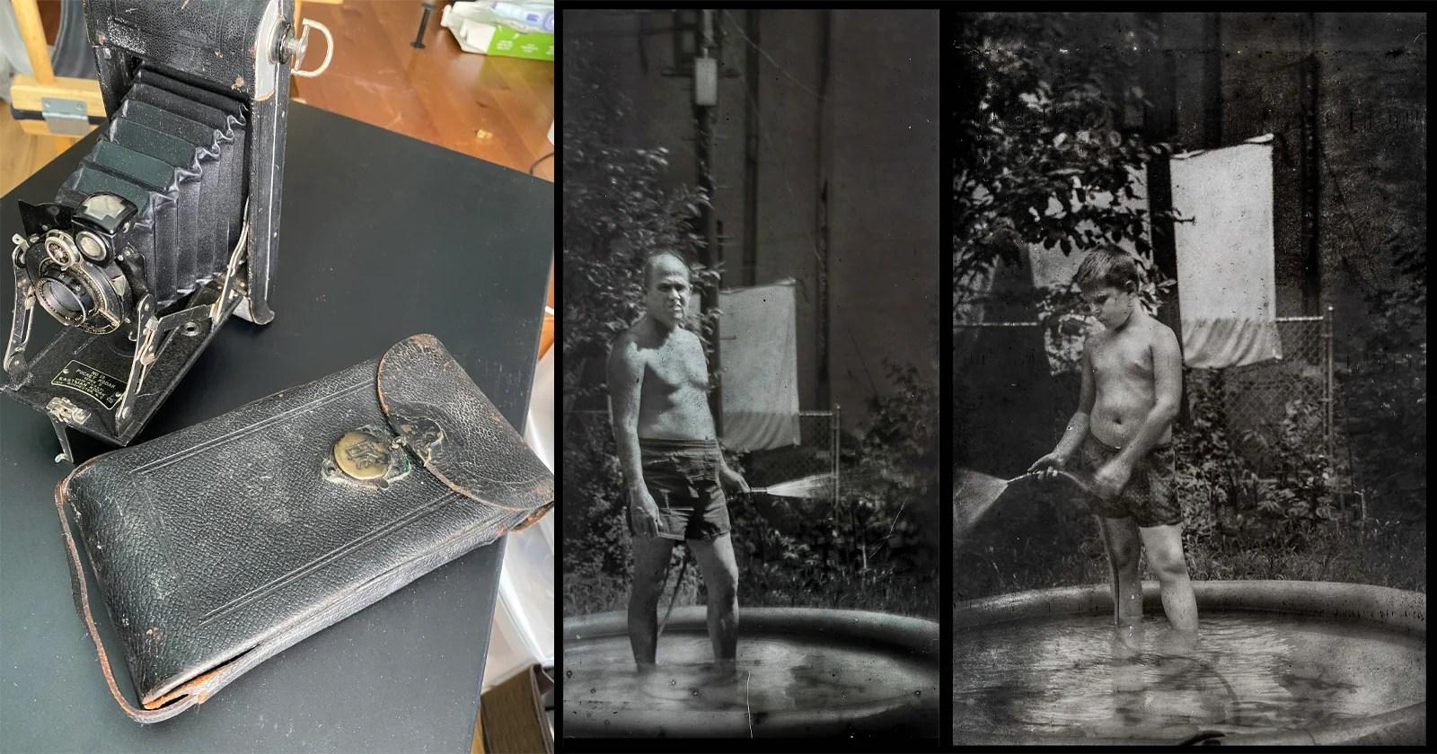 Il fotografo scopre una pellicola non sviluppata all'interno della fotocamera Kodak degli anni '20