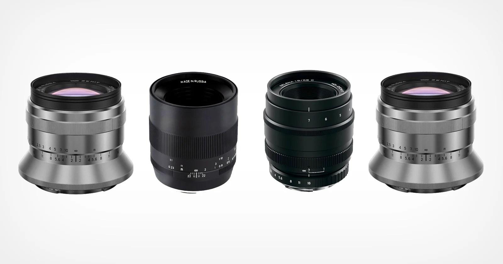 Zenit presenta quattro lenti prime manuali full frame per montature multiple