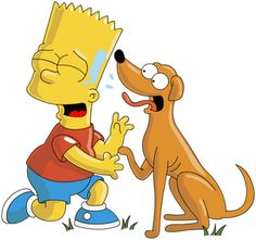 cachorro do bart simpson
