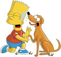 cachorro do bart simpson