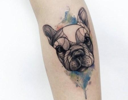 tatuagem bulldog frances