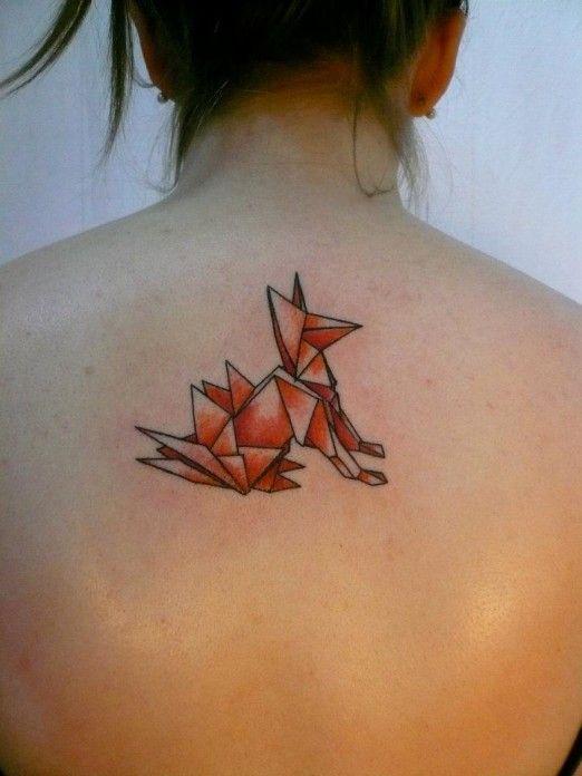 tatuagem cachorro real origami