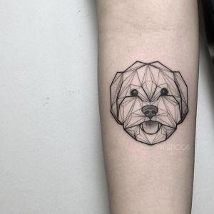 tatuagem de cachorro delicada