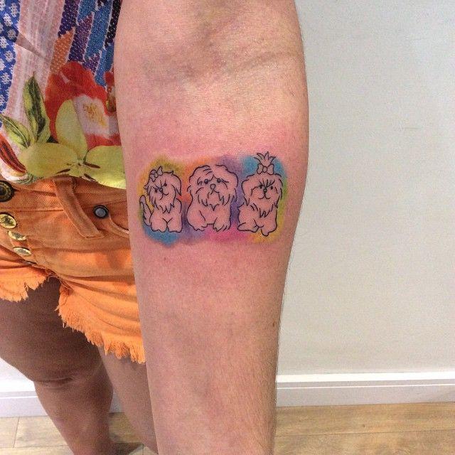 tatutagem-de-shih-tzu-coloridas
