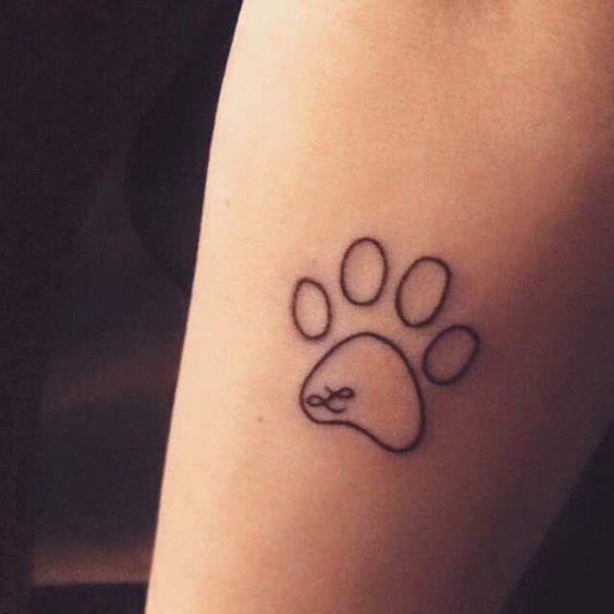 tatuagens de pata de cachorro