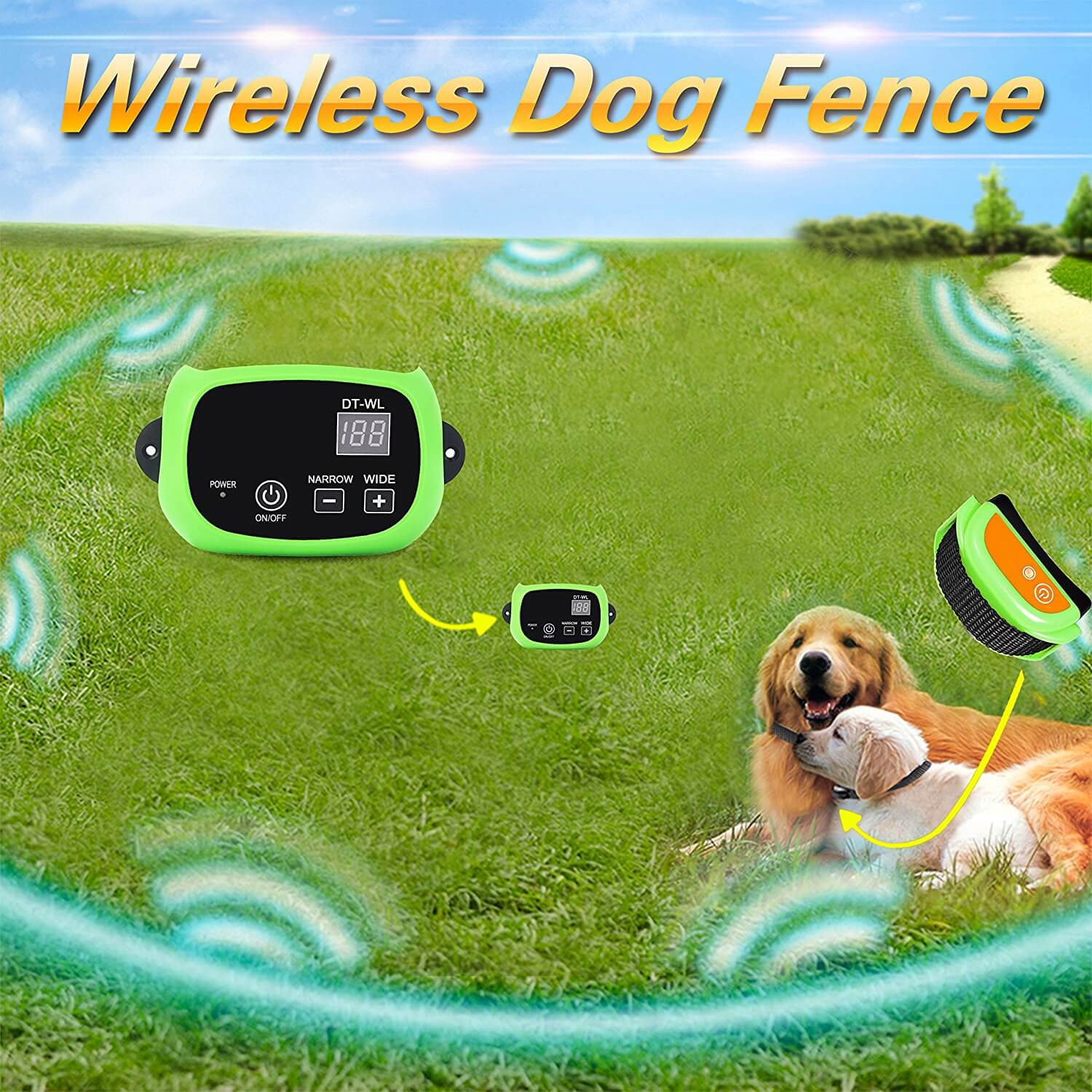 petfender wireless dog fence for home and field usage
