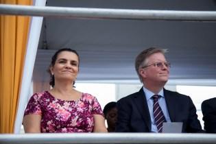 Mexican Ambassador to Jamaica Martha Cecilia Jaber and the British High Commissioner to Jamaica David Fitton.