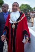 Mayor Delroy Williams in full regalia.