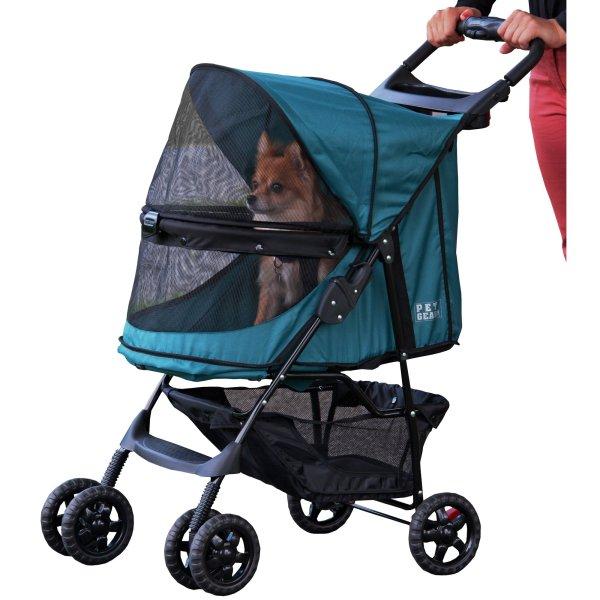 Pet Gear Happy Trails -zip Stroller In Emerald Petco