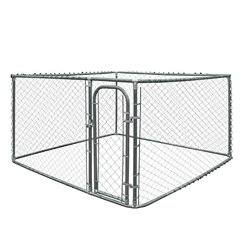 ALEKO DK10X10X6 Pet System DIY Box Kennel Chain Link Dog