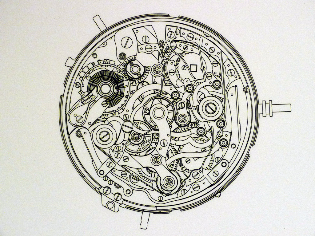 pocket watch movement diagram 66 mustang dash wiring sihh 2013 lange 39s grande complication