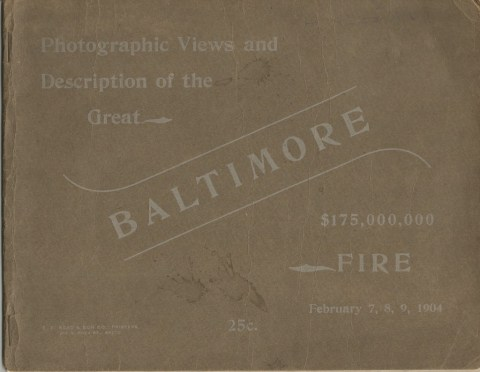 Cover of my Great-Grandmother's Baltimore Fire book.
