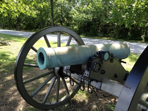 Front View of a Howitzer.