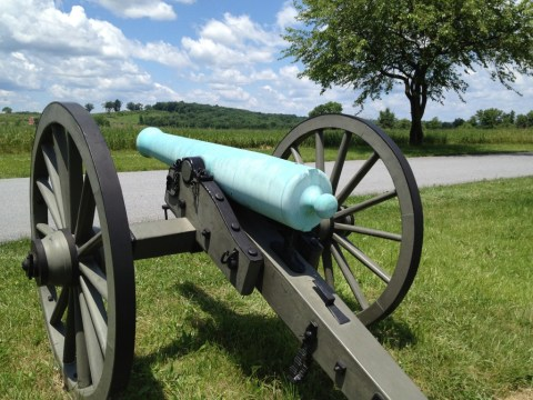 Rear view of the Model 1857 12-pounder.