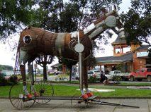 Plaza de Armas with horse on wheels.