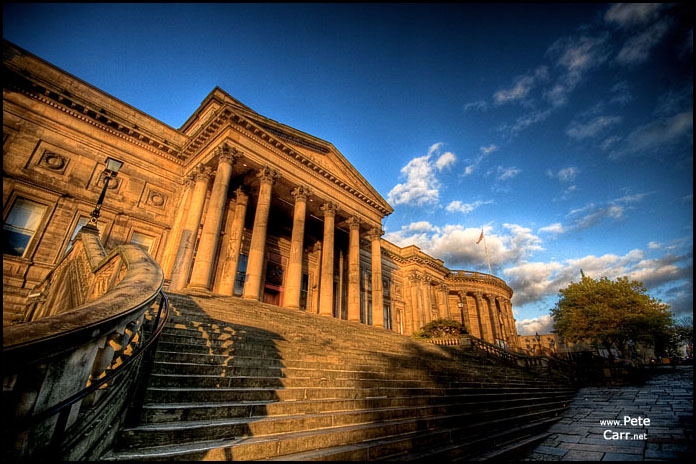 St Georges Hall at sunset