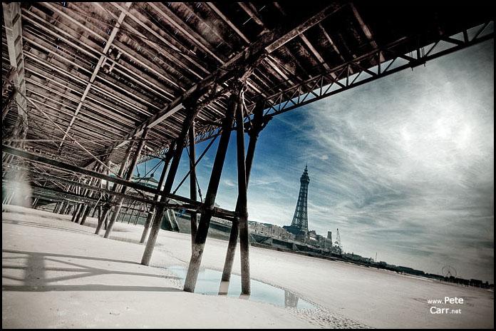 Under North Pier in Blackpool