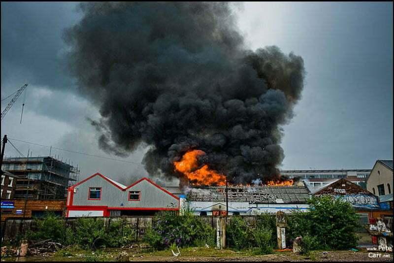 Greek restaurant on fire