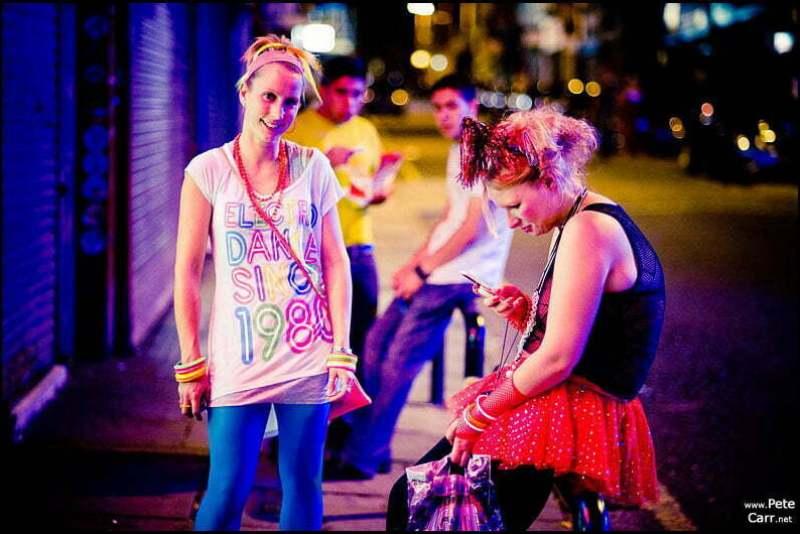 Colourful nightlife