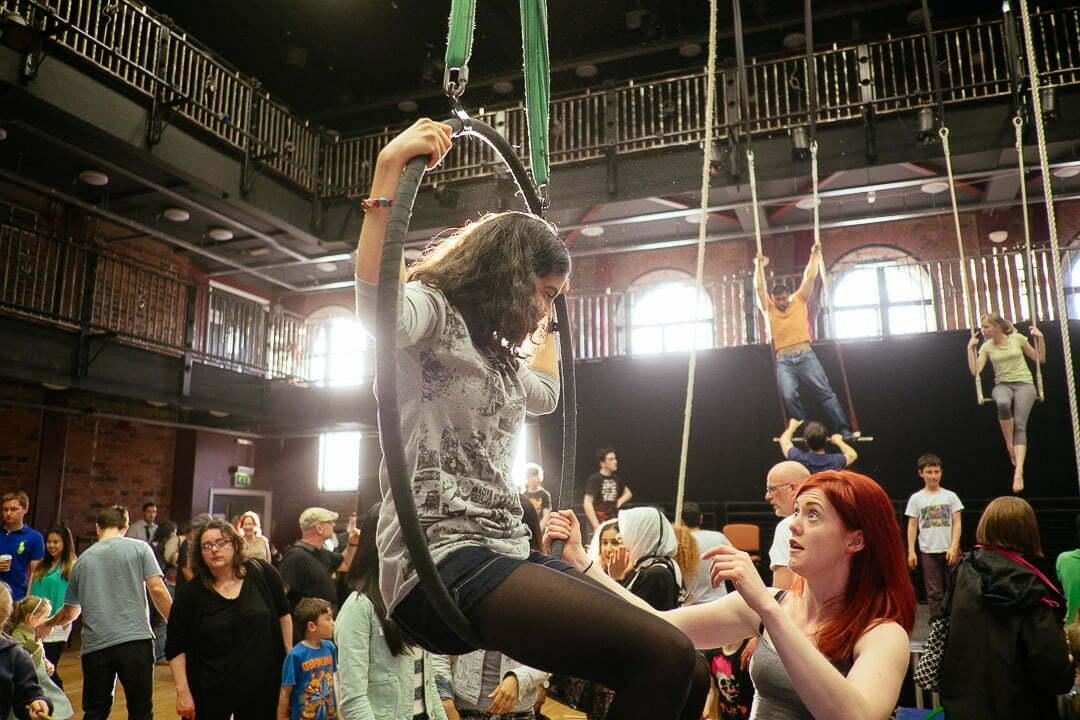 Light Night Liverpool 2014 - Circus skills inside the Blackie