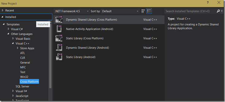 Visual Studio 2015 Preview – Mobile C++ – Pete D