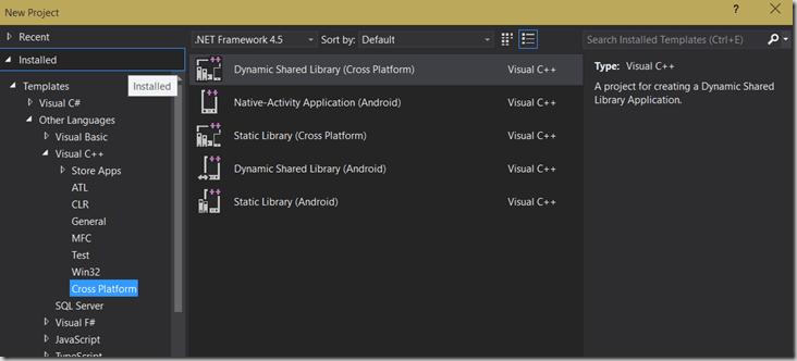 Visual Studio 2015 Preview – Mobile C++ – Pete D