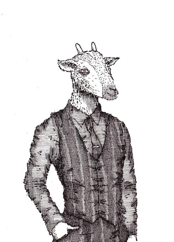 People as Animals Drawings