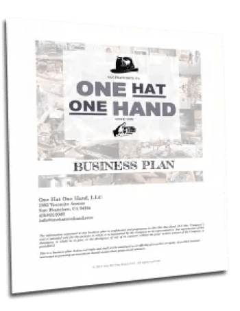 One Hat One Hand Business Plan
