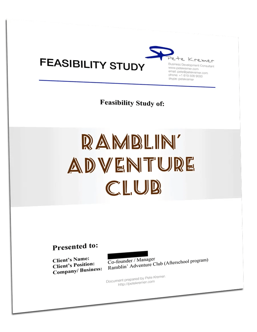 Feasibility Study Cover