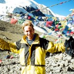 Peter Liptak at Thorong La, Nepal at 5,416 metres