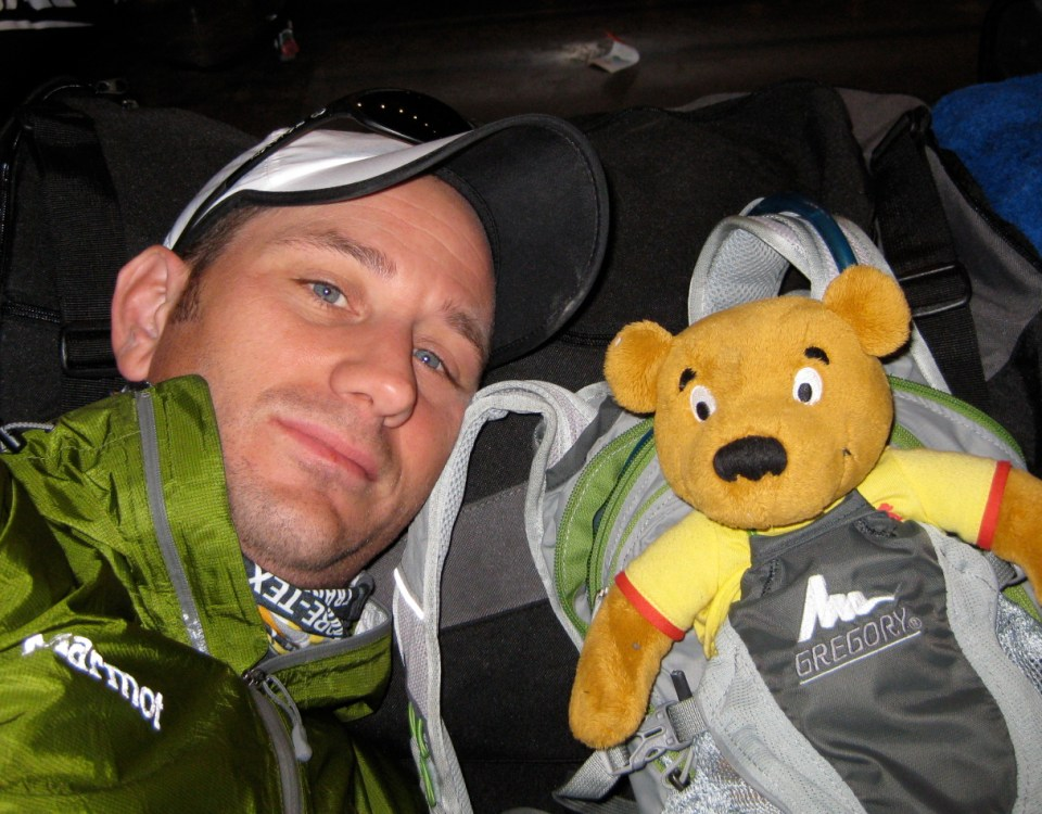 Teddy and Pete on the Transalpine Trail - Transalpine Race 2010