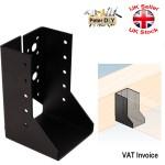 Black Decorative Heavy Duty Face Fix Folded Joist Hanger Timber Steel 2mm Ebay
