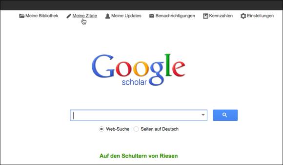 Google Scholar-Meine Zitate