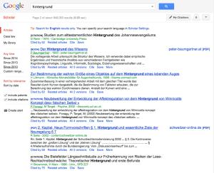 """Google Scholar Suche nach """"Hintergrund"""""""
